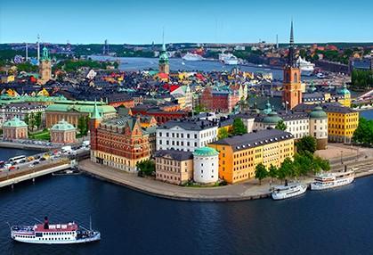 Sky line of Scandinavian capital