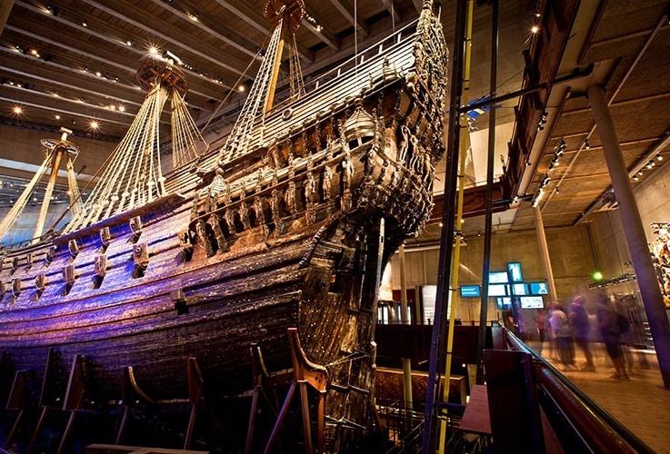 Antique ship in museum