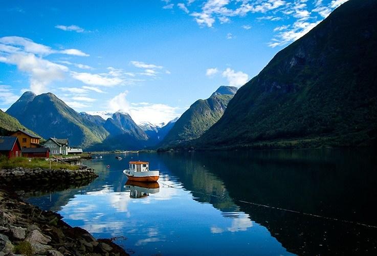 Ferry between fjords