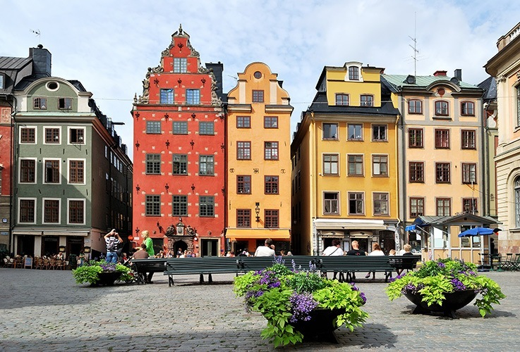 View of Stockholm city streets