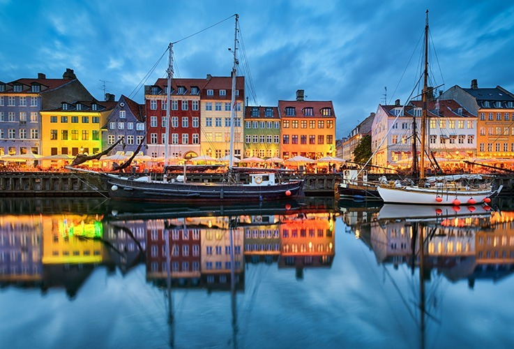 View of copenhagen from canal
