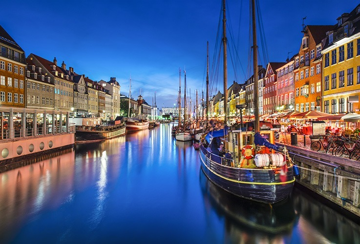 Boats in Copenhagen canal