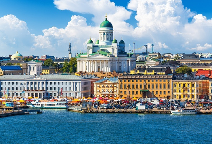 Helsinki sky line