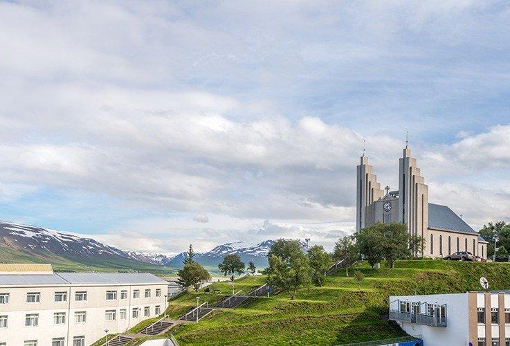 Large church on hillside