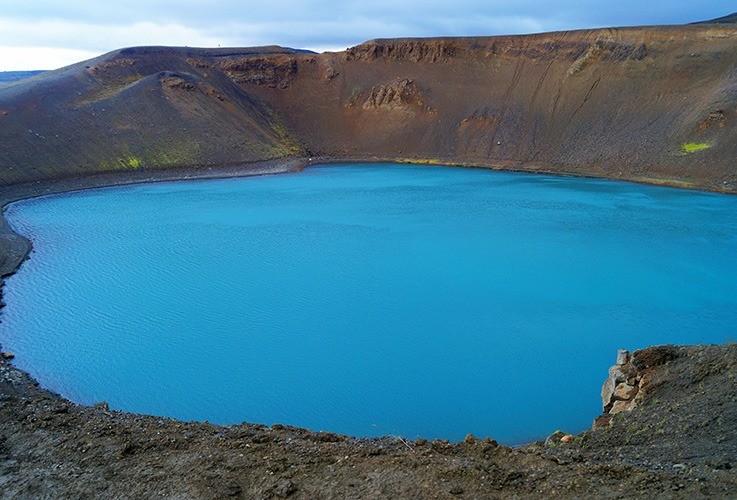 Large blue lake