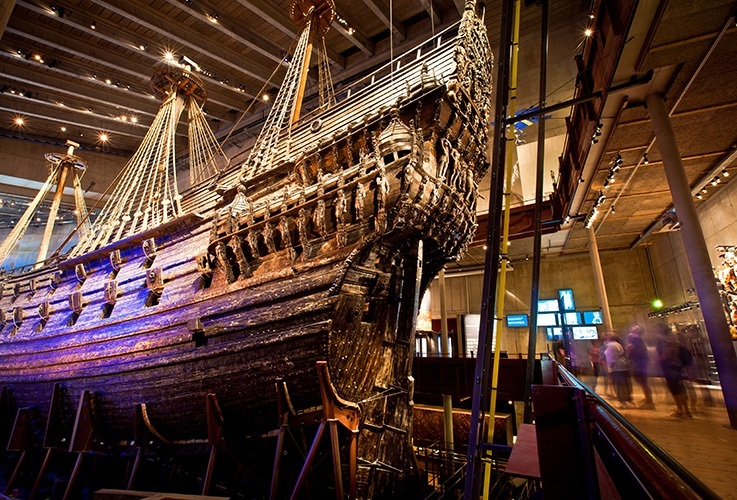Large ship in museum