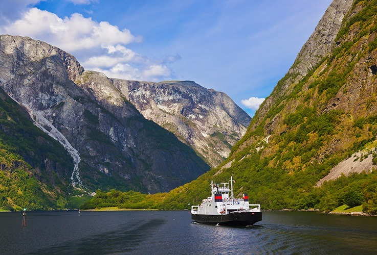 Ferry between Fjords