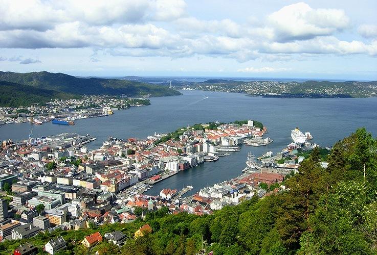 Bergen city scape