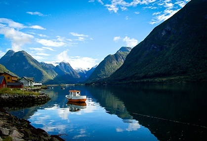 Ferry through the fjords