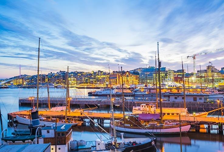 View of Norwegian city