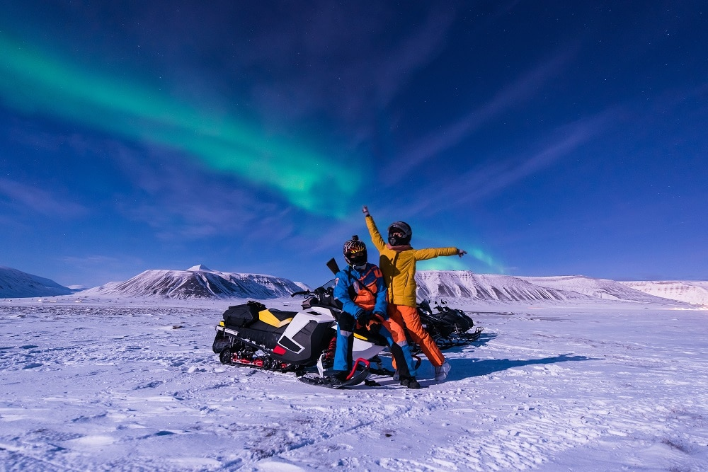 Northern Light safari on snowmobiles in Norway