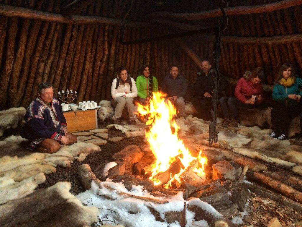 Sami seminar in a traditional Lavvu - March 2018