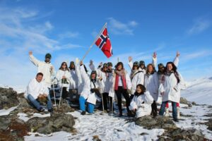 group tour in the norwegian lapland