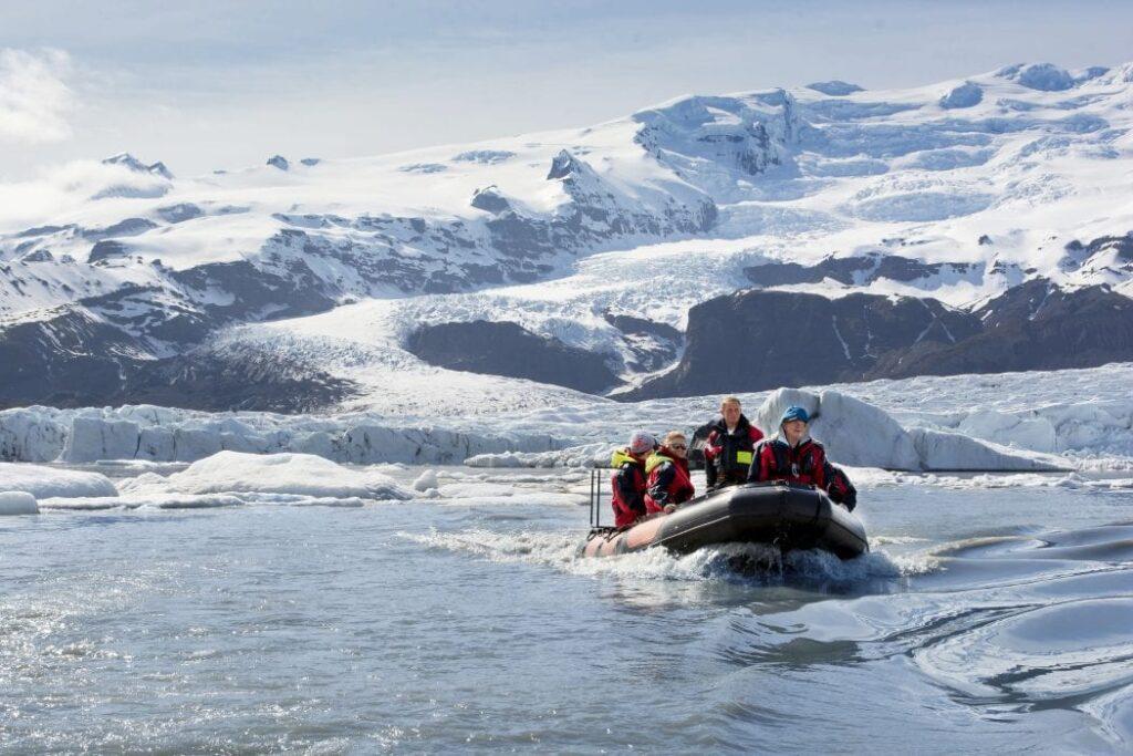 RIB Boat Ride near Vatnajokull Glacier